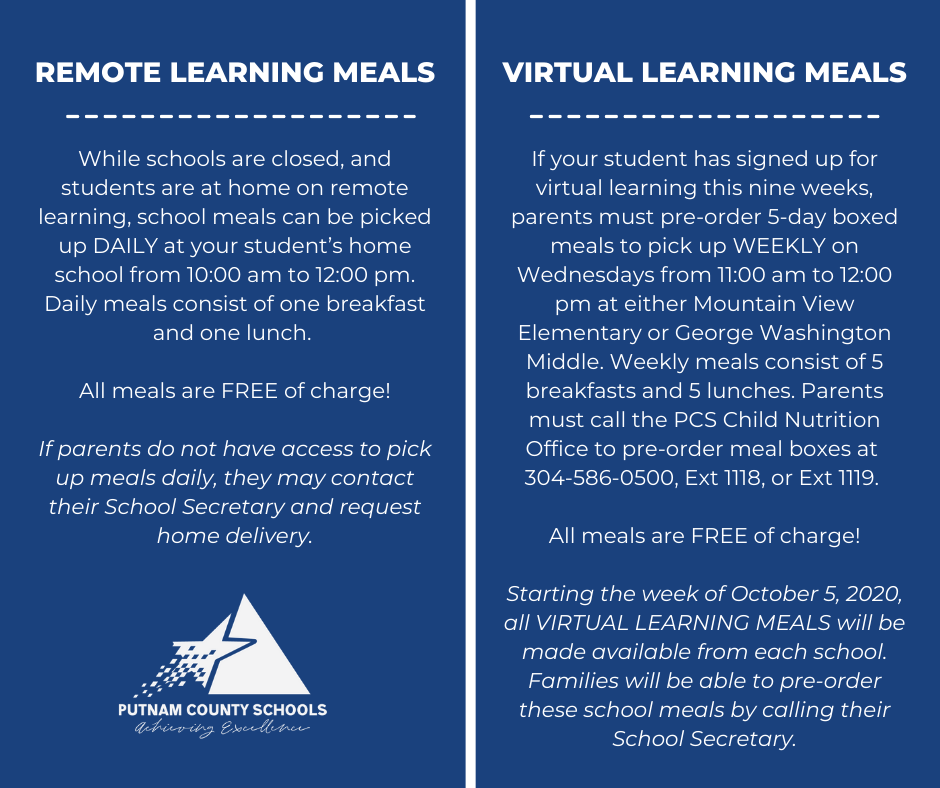 Remote and Virtual Learner Meal
