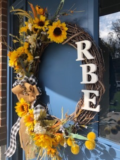 RBE Wreath with Sunflowers