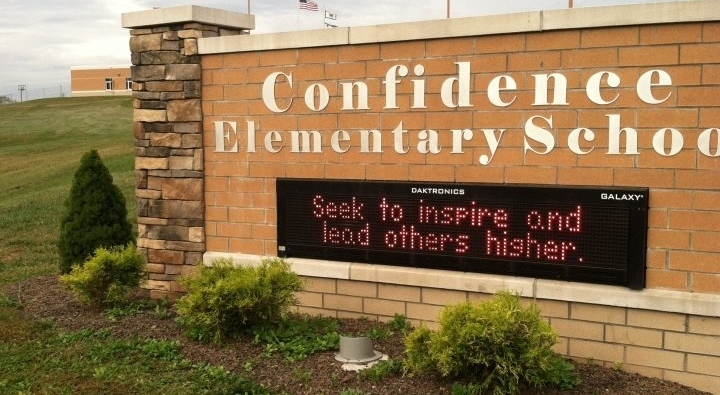 Confidence Elementary School Sign